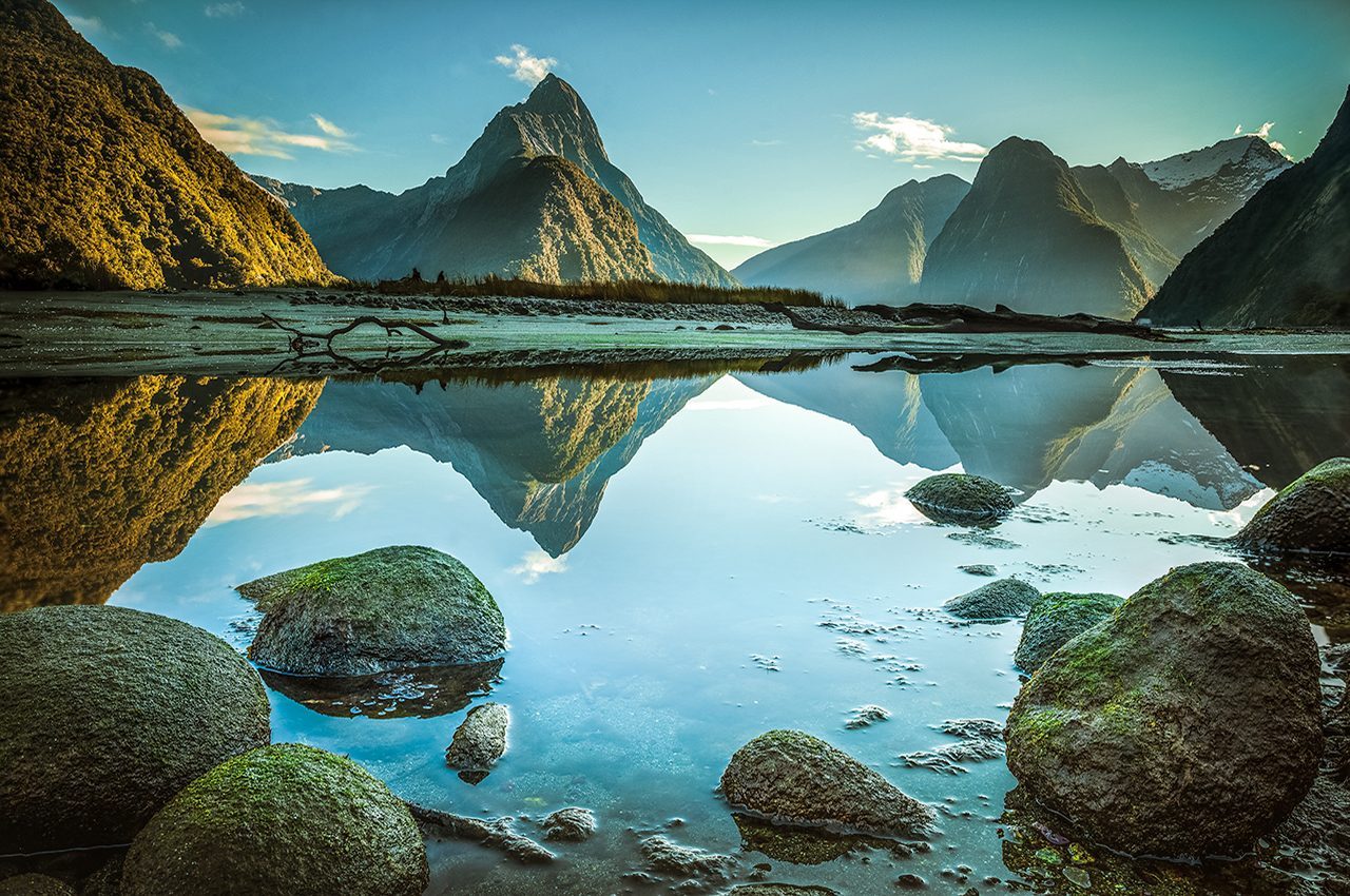 Milford Sound Mirror Reflections
